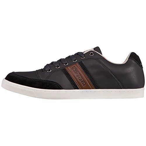 kappa-carmelo-low-sneakers-basses-mixte-adulte-noir-schwarz-1154-black-cognac-44