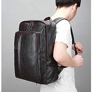41bAaLELDoL. SS300  - Leathario Mochila Tipo Caual Escolar Hombre Cuero Sintetico Vintaje Retro de Mano Backpack Laptop para Portátiles y…