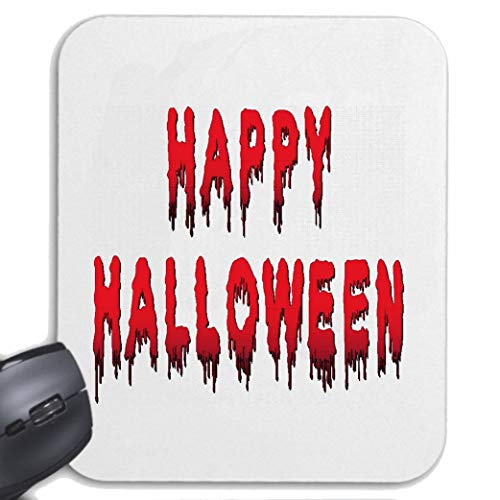 Helene Mousepad (Mauspad) Happy Halloween - KÜRBIS - Gespenster - SÜßES ODER SAURES - Oktober für ihren Laptop, Notebook oder Internet PC (mit Windows Linux usw.) in Weiß (Süßes Gespenst Halloween Bilder)