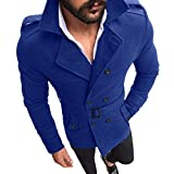 SuperSU Herren Herbst Winter Slim Fit Langarm Anzug Top Jacke Trenchcoat Outwear Windbreaker Jacke Blazer zweireihiger warme Winter Graben lange Outwear Oktoberfest Button Smart Mantel