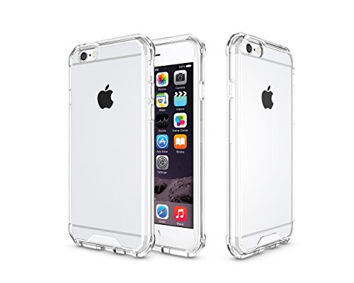iPhone 6 Hülle, iPhone 6S Case, Kristall Transparent Klar Heavy Duty Ultra Slim Dämpfung Kratzfest Anti-Yellow Hard PC Cover für Apple iPhone 6 Hülle/iPhone 6S Schutzhülle, Weiß