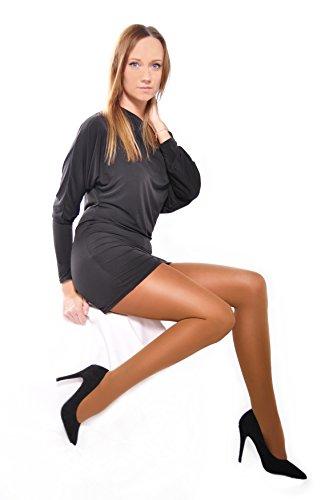 Donna Bella semi opaco 40denari Collant con tassello (Paula) Beige 36 - L