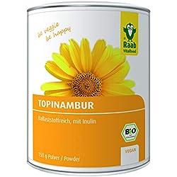 Raab Vitalfood Bio Topinambur-Pulver, vegan, ballaststoffreich, mit Inulin, ohne Zusätze, laborgeprüft, Sonnenwurzel, 1er Pack (150 g)
