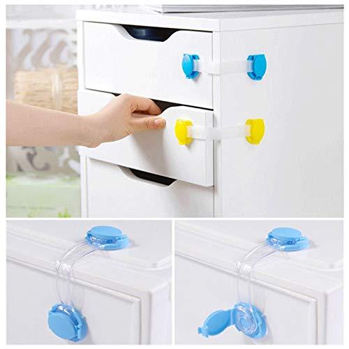 10 Teile/los Baby Sicherheitsschloss Schrank Smart Schubladentür Fensterschlösser Gurte Schutz der Kinder Familie Sicherheitsschloss Proof Blocker -