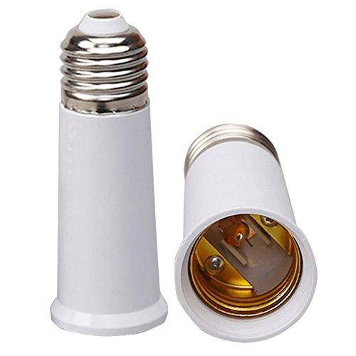 Lanlan Konverter Leuchtmittel Gap Conversion Adapter E27auf E2795mm verlängern Sockel Lampe Halter (Dual-sockel-leuchte)