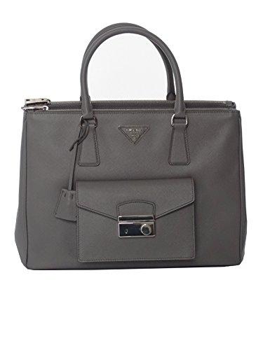 Prada-Saffiano-Lux-BN2674-Women-Bag-Grey-Saffiano-Leather-34x24x15cm