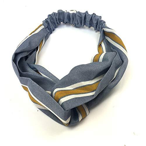 CAOLATOR Sport-Stirnband Elastisches Stirnband Weiche Headbands Streifen Stretch Kreuz Stirnband Mädchen Haar Band Yoga Haarband (Foto-basketball)