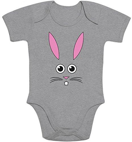 Süsser Kleiner Osterhase - Ausgefallene Babykleidung Baby Strampler Body Kurzarm 3-6 Months Grau