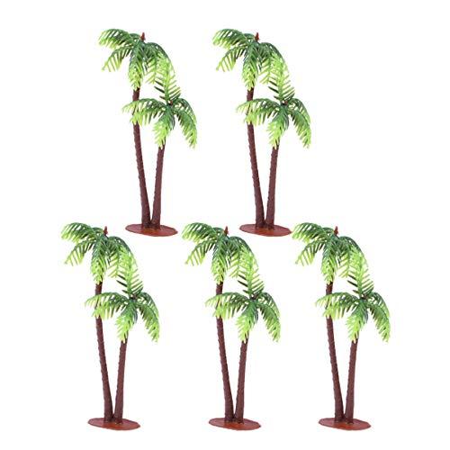 Garneck 5 stücke kunststoff kokospalme miniatur pflanzentöpfe bonsai künstliche pflanze dekoration handwerk mikrolandschaft