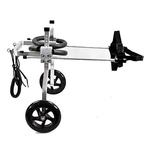 AnnCWLY Scooter Auxiliar de Entrenamiento de tamaño Ajustable para Silla de Ruedas para Mascotas, Modelo M, Adecuado para 9-16 KG, 33-40 cm Perro Que Lleva