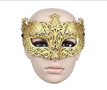ske Venezianische Prinzessin Masquerade Maske (Gold) (Venezianische Halbmasken)