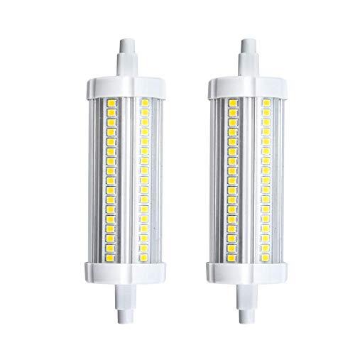 Grüne Innen-reflektor Flutlicht Lampe (Bonlux R7s Led Lampe Leuchtmittel 15W 118MM 220V Warmweiß 3000K 360°Abstahlwinkel wie 150W HalogenTube Licht für Wandlampe/Wandleuchte, Flutlicht (2-Stück Nicht Dimmbar))