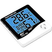 YouN HTC-8A - Reloj despertador digital para el hogar con termómetro y higrómetro