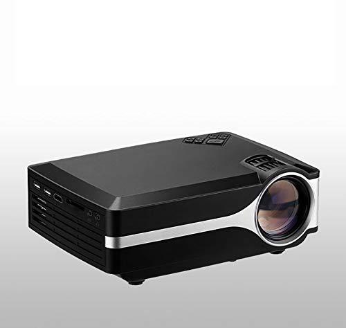 LHJCN Beamer, Projektor, Videoprojektor unterstützt 1080P HD, 90% mehr Lichtleistung und Lampenlebensdauer, unterstützt HDMI VGA AV USB TF Geräte, Heimkino Projektor, Black