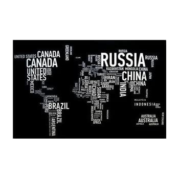 Large black and white world map canvas wall art picture on wooden large black and white world map canvas wall art picture on wooden frame 70 x 50 gumiabroncs Choice Image