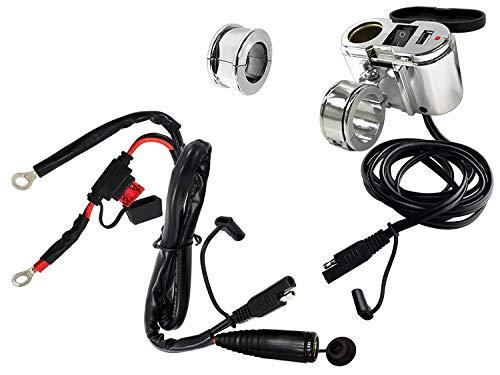 EKLIPES EK1-110 Cobra Ultimative Motorrad USB-Ladesystem, Chrom -