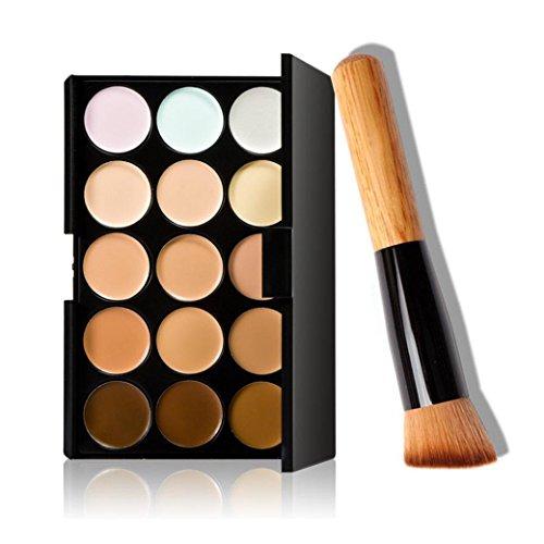 Angelof 15 couleurs de maquillage Correcteur Contour Palette + pinceau de maquillage