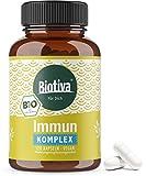 Bio Immun Komplex Kapseln - 120 Kapseln - 100% Ayurveda - Zellschutz - Müdigkeit, Immunsystem, Abwehrkräfte - pflanzlich, vegan - Direkt vom Hersteller - 100% vegan - DE-ÖKO-005
