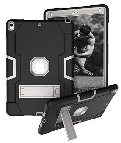 Yoomer Schutzhülle für iPad Air 3 (26,7 cm / 10,5-Zoll-2019), dreilagig, robust, stoßfest, robust, aus Silikon und hartem Polycarbonat, stoßfest, Schwarz/Grau -