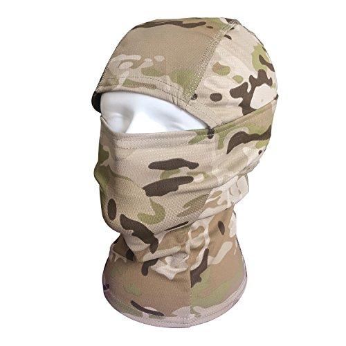 QMFIVE Taktische Airsoft Outdoor - Jagd - Ninja - Hood Tarnung Flexible voll schützende Maske (DC)
