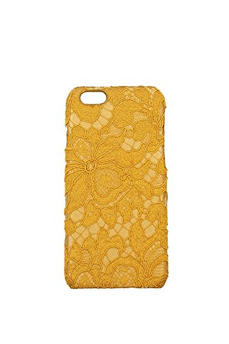BI0725AR51480211 Dolce&Gabbana Coque Iphone Femme Tissu Jaune Jaune