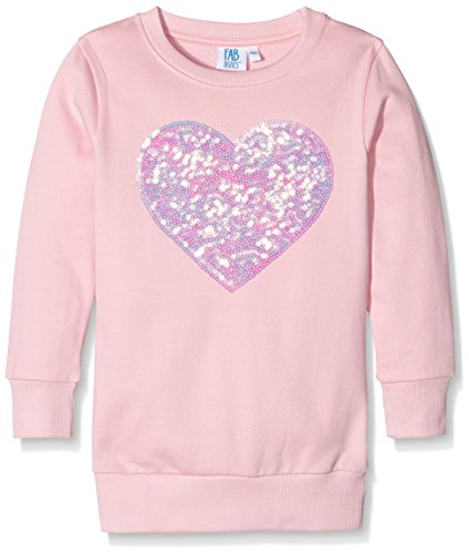 FABTASTICS Mädchen Sweatshirt mit Pailletten, Rosa (Sweet Lilac), 116