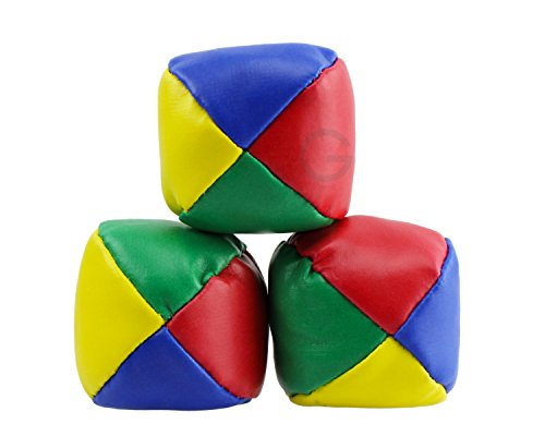 3x Jonglierball mit Beutel 4farbig Jonglierbälle ca. 48g. Jongleur Ball onglierbälle (Bean Bags) Weiche Jonglierbälle (Beanbags) 3er-Set für den Einsteiger Farben: Rot/Gelb/Blau/Grün !!