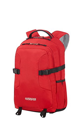 American Tourister Urban Groove Backpack for 14.1' Laptop - 0.5 KG Rucksack, 45 cm, 24 L, Red