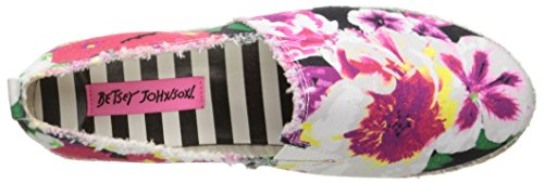 Betsey Johnson Flouncee Toile Espadrille Blk Floral