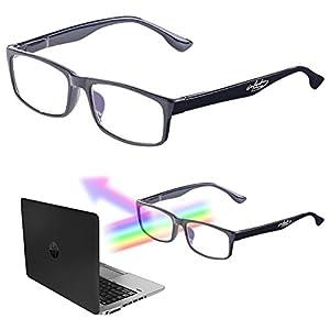 infactory PC Brille: Augenschonende Bildschirm-Brille mit Blaulicht-Filter, 1,0 Dioptrien (Anti Blaulicht Brille)