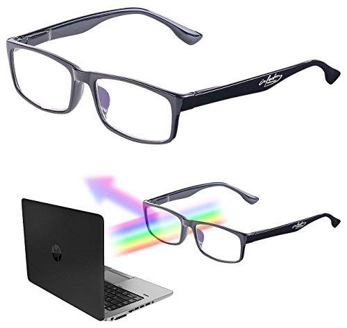 infactory Computerbrille: Augenschonende Bildschirm-Brille mit Blaulicht-Filter, 1,5 Dioptrien (Blaulichtbrille)