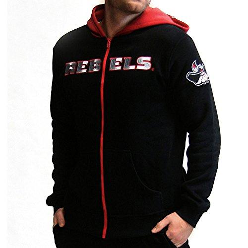 Schwarze Herren Activewear (Twin Vision Activewear Herren UNLV Rebels NCAA Full Zip Hoodie Jacke (schwarz), Herren, schwarz, Small)