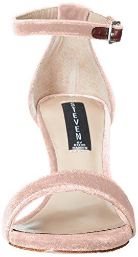 STEVEN by Steve Madden Womens Viienna Dress Sandal,Black Leather,10 M US Blush Velvet