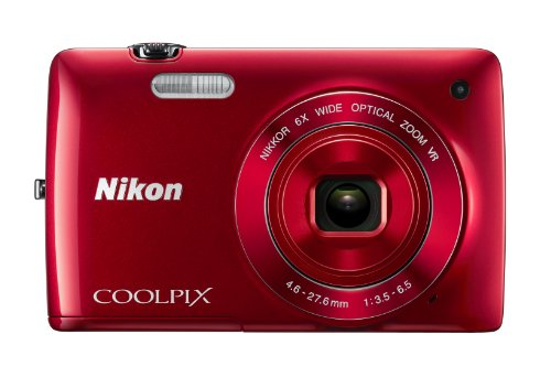 Nikon Coolpix S4300 Point & Shoot Camera (Red)