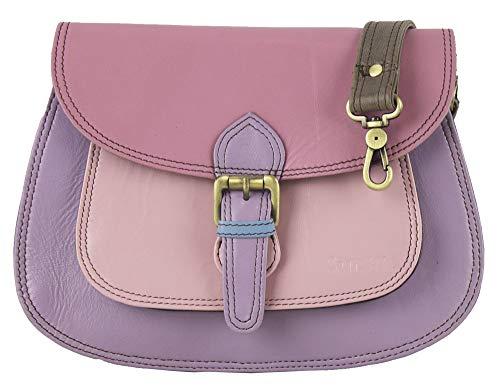 Sunsa Kleine Umhängetasche Damen Handtasche Ledertasche Klein Schultertasche Mini Trachtentasche Damentasche Crossbody Bag Leder Tasche Women Bag Taschen schöne Geschenke für Frauen/Mädchen (rosa) -