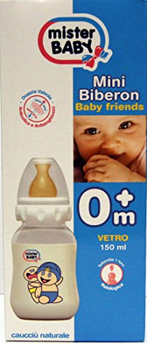 Mini Biberon - Baby Friends 0m+ Vetro 150 ml