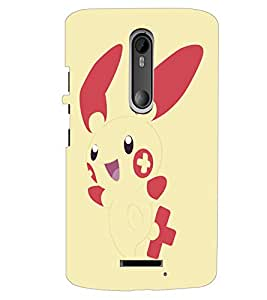 PrintDhaba Bunny D-5145 Back Case Cover for MOTOROLA MOTO X3 (Multi-Coloured)