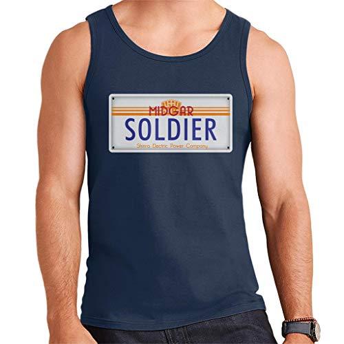 Cloud City 7 Final Fantasy Midgar Soldier License Plate Men's Vest