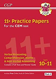 11+ CEM Practice Papers: Ages 10-11 - Pack 4 (with Parents' Guide & Online
