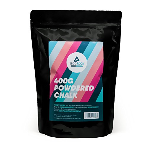 Secoroco Chalk Powder 400g - feinstes Magnesiumcarbonat - ideal zum Klettern, Bouldern, Kraftsport & Turnen