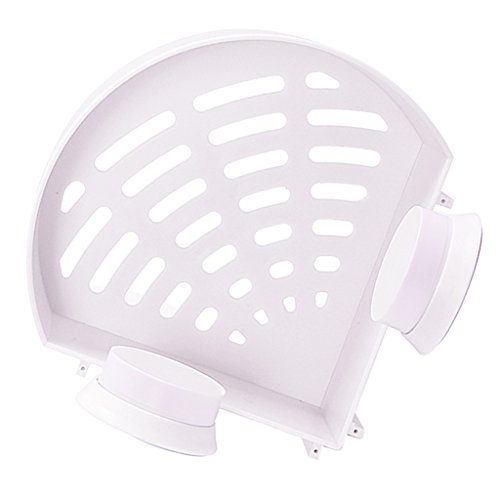 Badezimmer Duschecke Regallager Korb Aufhänger mit Sauger Regal - Weiß