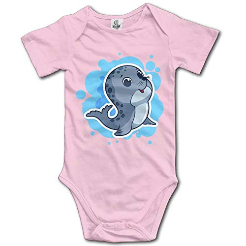 TKMSH Unisex Baby's Climbing Clothes Set Sea Lions Bodysuits Romper Short Sleeved Light Onesies for 0-24 ()