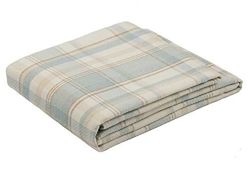 McAlister Textiles Coperta Copri Letto, Divano e Poltrone | Vero Tartan Scozzese | Azzurro Chiaro 180x254cm