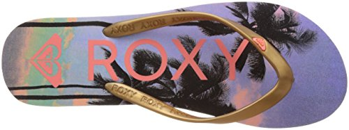 Roxy Tahiti V, Tongs femme Multicolore (Rose Gold)