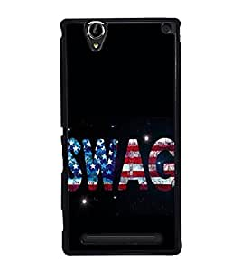 SWAG 2D Hard Polycarbonate Designer Back Case Cover for Sony Xperia T2 Ultra :: Sony Xperia T2 Ultra Dual SIM D5322 :: Sony Xperia T2 Ultra XM50h