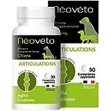 Néovéto ARTICULATIONS comprimés naturels pour Chiens souffrant d'arthrose à Base de glucosamine, chondroïtine, agréées par Le