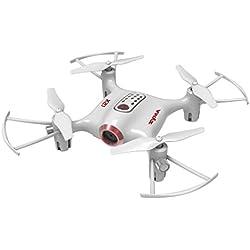 Syma X21 Drones Mini para Niños 2.4GHz 4CH 6-Axis Cuadricópteros RC con Retención de Altitud, Modo sin Cabeza, Rotación de 360° y Luz LED