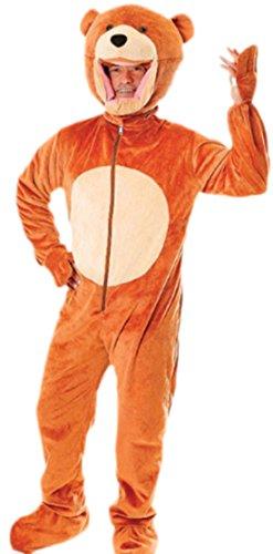 Karnevalsbud - Herren Teddy Bär Kostüm, Karneval, Fasching, M-XL, (Bär Kostüm Killer)