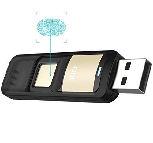 Farsler – Clé USB 32Go haute vitesse à reconnaissance d'empreinte digitale double stockage 61*20*9.2mm Gold 64G