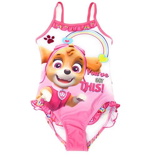 Paw-Patrol Mädchen Badeanzug (Rosa, 6 Jahre (Herstellergröße 116))